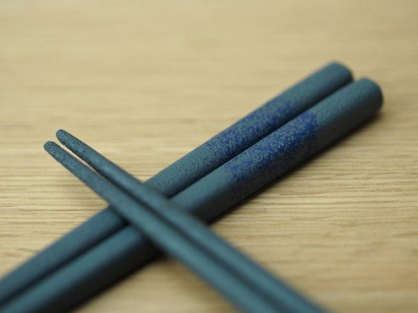 画像5: 紋紗塗 二色箸 大箸 青青