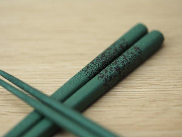 画像5: 紋紗塗 二色箸 大箸 緑