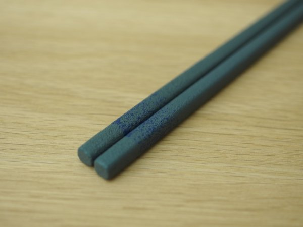 画像4: 紋紗塗 二色箸 大箸 青青