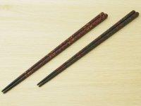 唐塗 細箸(黒上赤金、黒上赤緑金)