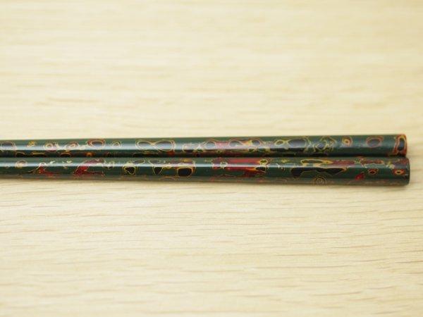 画像5: 唐塗 細箸(呂上、緑上)