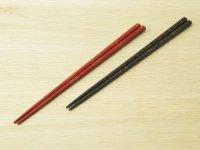 唐塗 細箸(赤上黒金、黒上赤緑金)