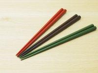 ななこ塗 中箸 (赤、黒、緑)