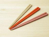 ななこ塗 中箸 (白、オレンジ、ピンク)
