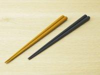 ななこ塗 中箸 (黄色、紺色)