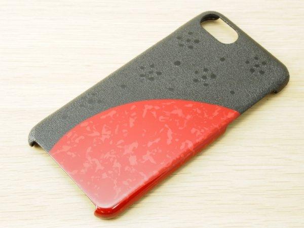画像1: 紋紗塗と唐塗 iPhone 7、iPhone 8 用ケース 赤