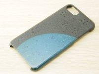 紋紗塗と唐塗  iPhone 7、iPhone 8 用ケース 青