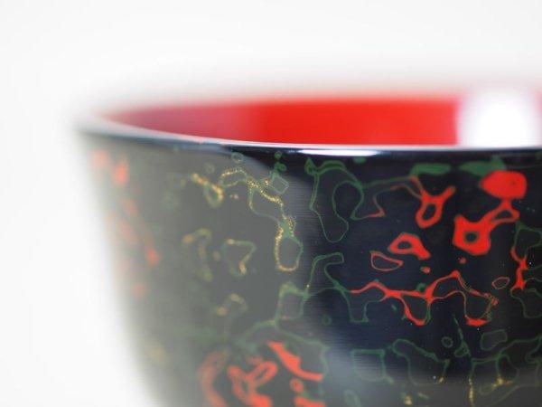 画像2: 唐塗 羽反型 黒上(緑赤金)