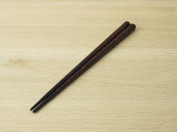 画像3: 夫婦箸セット 黒上