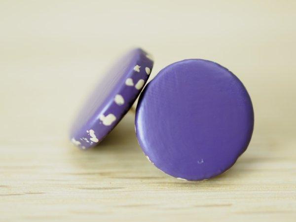 画像1: 唐塗 ピアス 紫