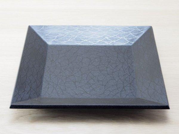 画像1: 紋紗塗 四方盆 すすき塗