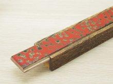 他の写真2: 唐塗 木製携帯箸箱赤上 (中箸用)
