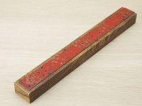 唐塗 木製携帯箸箱赤上 (大箸用)