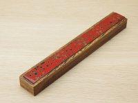 唐塗 木製携帯箸箱赤上 (中箸用)