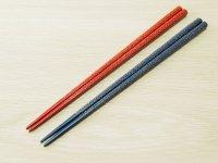 ななこ塗 女性専用箸 (赤色、青色)白種