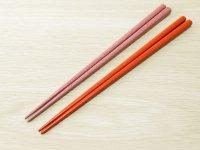 ななこ塗 女性専用箸 (桃色、オレンジ)