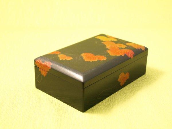 画像1: ななこ塗 蔦紋様小箱