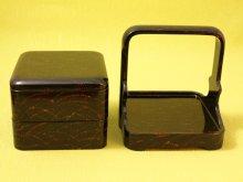 他の写真1: 変わり塗二段ミニ手提げ重箱